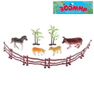 "Набор животных ""Ферма"", 4 фигурки с аксессуарами, фото 1"