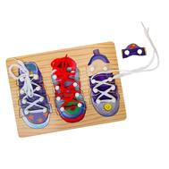 "Рамка-вкладыш ""3 ботинка"" со шнуровкой, фото 1"