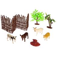 "Набор животных ""Обитатели фермы"", 4 фигурки с аксессуарами, фото 1"