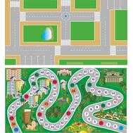 Стенд ИГРОВОЕ ПОЛЕ ДОРОГА И ИГРА-ХОДИЛКА (двусторонний), 0,51*0,96м, фото 1