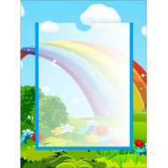 Информационный стенд для детского сада РАДУГА, 0,3*0,4м, фото 1