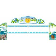 Комплект стендов для детских рисунков (Богатыри и Князь Гвидон), 2,77*1,2м, фото 1