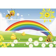 Стенд для детских поделок ПЧЕЛКИ, 0,65*0,45м, фото 1