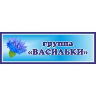 Табличка для детского сада в группу ВАСИЛЬКИ, 30*10см, фото 1