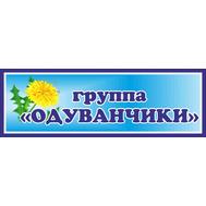 Табличка для детского сада в группу ОДУВАНЧИКИ, 30*10см, фото 1