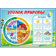 Стенд для детского сада УГОЛОК ПРИРОДЫ, 0,594*0,42м, фото 1