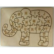 Рамка-вкладыш СЛОН Английский алфавит, 22,5*16,5см 26эл. неокрашенная, фото 1