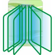 Стенд с перекидной системой на 5 рамок (зеленый фон), 0,3*0,4м, фото 1