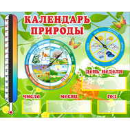 Стенд КАЛЕНДАРЬ ПРИРОДЫ (листья), 0,735*0,6м, фото 1