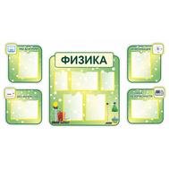Стенд для каб. УГОЛОК ФИЗИКИ (св.зеленый), 1,83*0,94м, фото 1