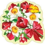Декоративный элемент на скотче БУКЕТ ЦВЕТОВ А4 7-64-8019, фото 1