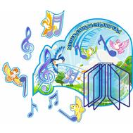 Стенд для детского сада МУЗЫКАЛЬНАЯ СТРАНИЧКА, 1,2*1,03м, фото 1