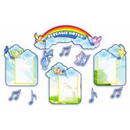 Стенд для детского сада ВЕСЕЛЫЕ НОТКИ, 1,455*0,95м, фото 1