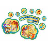 Стенд для детского сада МУЗЫКАЛЬНЫЙ УГОЛОК (Осенние мотивы), 2*1,4м, фото 1