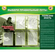 Стенд для школы ВЫБЕРИ ПРАВИЛЬНЫЙ ПУТЬ, 1,25*1м, фото 1