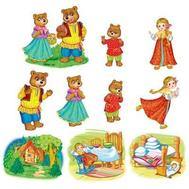 Комплект мини-плакатов ГЕРОИ СКАЗКИ ТРИ МЕДВЕДЯ 10шт.КФМ-12317, фото 1