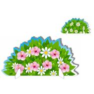 Напольная декорация КУСТ С РОЗОВЫМИ ЦВЕТАМИ (двухсторонняя), 0,6*1,175м, фото 1