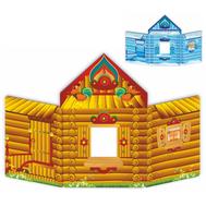 Напольная декорация ИЗБУШКА (двухсторонняя), 3,6*2м, фото 1