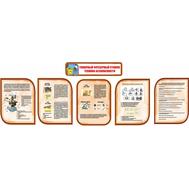 Комплект стендов в кабинет Технологии в коричневом цвете ТОКАРНЫЙ ФРЕЗЕРНЫЙ СТАНОК, 3,96*1,35м, фото 1