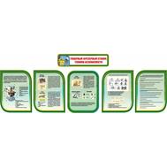 Комплект стендов в кабинет Технологии в зеленом цвете ТОКАРНЫЙ ФРЕЗЕРНЫЙ СТАНОК, 3,96*1,35м, фото 1