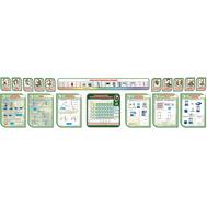 Комплект стендов в кабинет Физики в зеленом цвете, 6,1*1,56м, фото 1