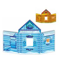 Напольная декорация ИЗБУШКА (двухсторонняя), 2,6*1,6м, фото 1