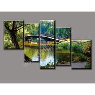 """Пятимодульная картина """"Мост через реку"""", фото 1"""