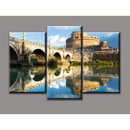 """Трехмодульная картина """"Мост через реку"""", фото 1"""