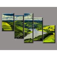 "Пятимодульная картина ""Долина"", фото 1"