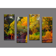 """Четырехмодульная картина """"Красочные деревья"""", фото 1"""