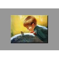 """Картина на подрамнике """"Мальчик с бабочкой"""" (печать на холсте), фото 1"""