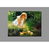 """Картина на подрамнике """"Девочка с утятами"""" (печать на холсте), фото 1"""