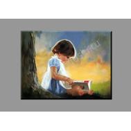 "Картина на подрамнике ""Девочка с книгой"", фото 1"
