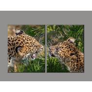 Двухмодульная картина ЛЕОПАРДЫ, фото 1
