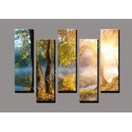 "Пятимодульная картина ""Утром в лесу"", фото 1"