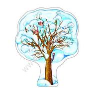 Плакат-дерево КЛЕН ЗИМНИЙ А3 Ф-9312 ВЫРУБКА, фото 1
