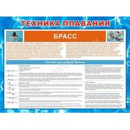 Стенд ТЕХНИКА ПЛАВАНИЯ БРАСС ВП-01 (65), 1200*1000мм, фото 1