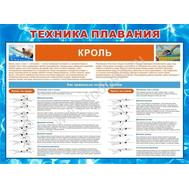 Стенд ТЕХНИКА ПЛАВАНИЯ КРОЛЬ ВП-01 (66), 1200*1000мм, фото 1