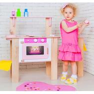 """Деревянная кухня-трансформер для девочек """"Ванильный смузи"""" с 16 аксессуарами, фото 1"""