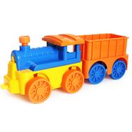 """Игровой набор паровозик инерционный с вагончиком """"Вжух"""" 12103, фото 1"""