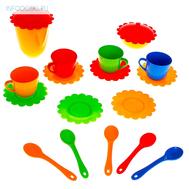 Большой набор детской посуды «Ромашка» на 4 персоны, фото 1