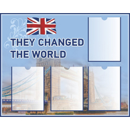 Стенд для школы THEY CHANGED THE WORLD, 1,25*1м, фото 1