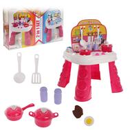 """Игровой набор """"Играем в профессии"""" 2в1 (повар/доктор): столик, набор для кухни, набор доктора, аксессуары, фото 1"""