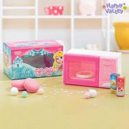 Бытовая техника «Микроволновая печь», световые и звуковые эффекты, подставка вращается, цвет розовый, фото 1
