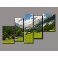 """Пятимодульная картина """"Долина в горах"""", фото 1"""