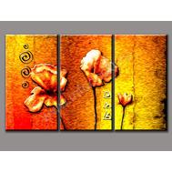 """Трехмодульная картина """"Огненные цветы"""", фото 1"""