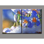 """Двухмодульная картина """"Весенние цветы"""", фото 1"""