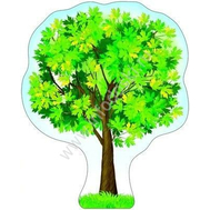Плакат-дерево А3 КЛЕН Ф-8732 ВЫРУБКА, фото 1