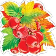 Декоративный элемент на скотче ЯГОДЫ И ОСЕННИЕ ЛИСТЬЯ А5 1шт. 7-65-083, фото 1