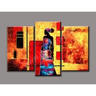 """Трехмодульная картина """"Африканка"""", фото 1"""